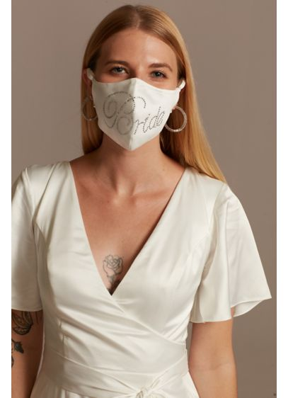 Crystal Bride Satin Loop Fashion Face Mask - Promote safe social practices and show off your